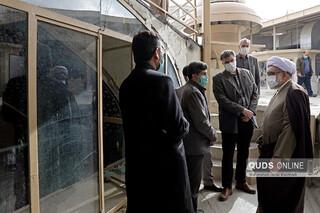 بازدید تولیت آستان قدس رضوی از روند اجرای عملیات بهسازی تأسیسات حرم مطهر