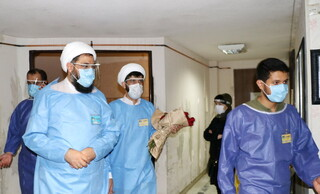 دیدار امام جمعه از کادر درمان