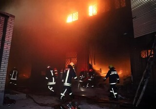 معاون عملیات آتش نشانی شهر مشهد