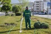 ۲۱ میلیون مترمربع از فضای سبز اصفهان با روش های جدید آبیاری می شود