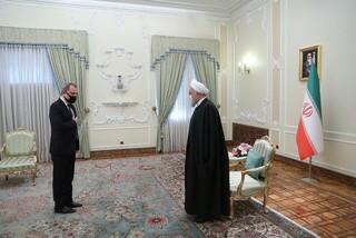 دیدار روحانی با وزیر خارجه آذربایجان