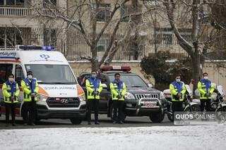 \مراسم آغاز طرح زمستانی پلیس راه خراسان رضوی