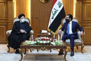 رئیسی و رئیس مجلس عراق - کراپشده