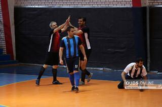 دیدار تیم های فوتسال روزنامه قدس و توزیع برق مشهد