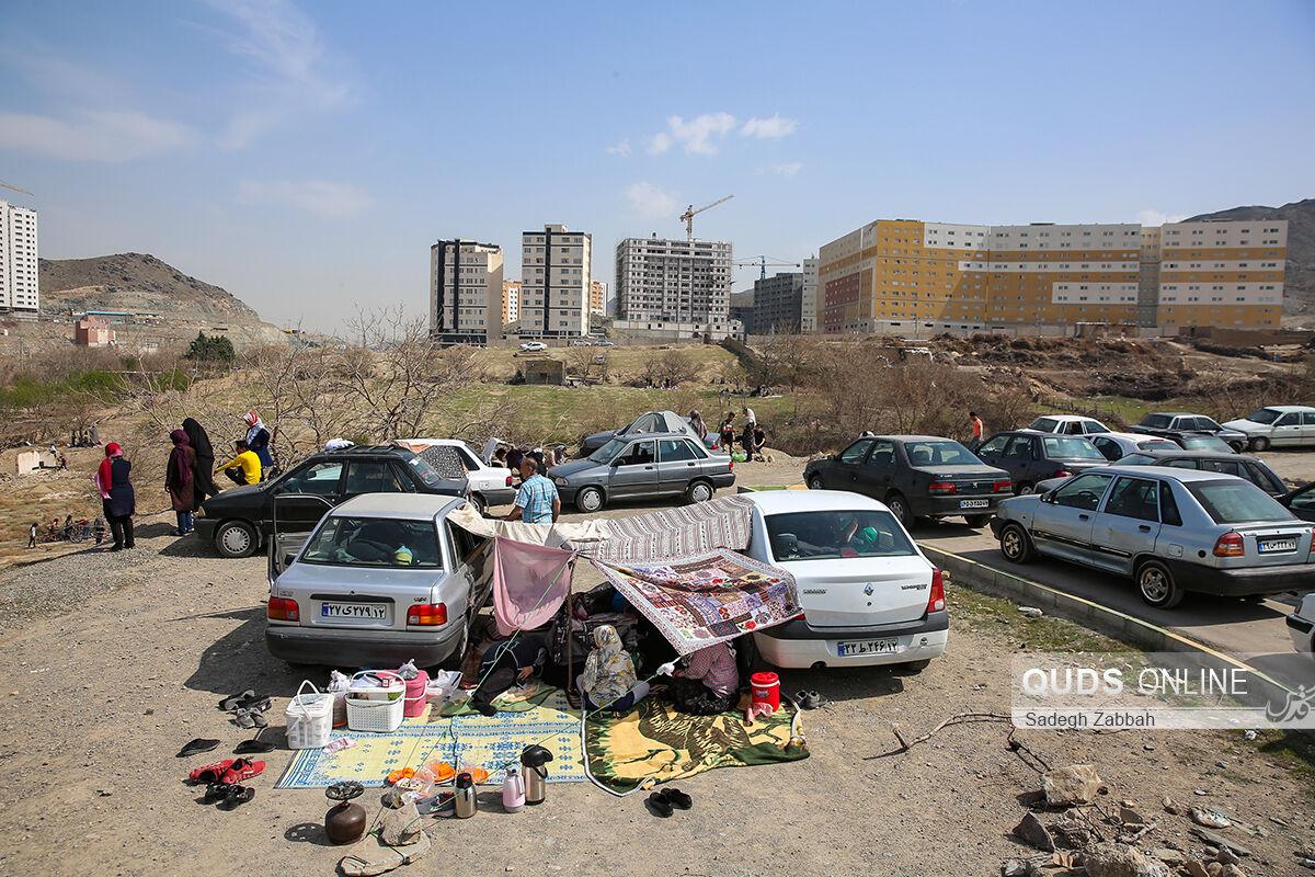 """سیزده بدر """"نارنجی"""" در مشهد"""