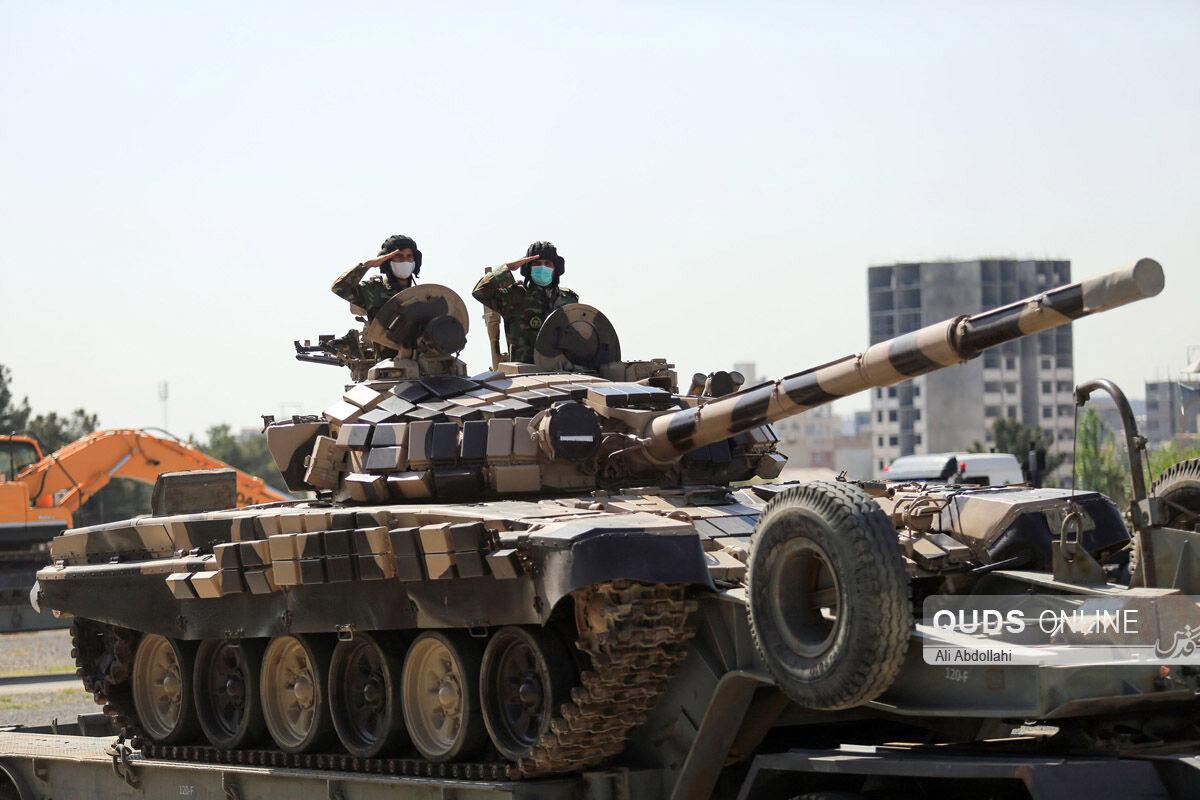 مراسم رژه خودرویی وموتوری روز ارتش در مشهد