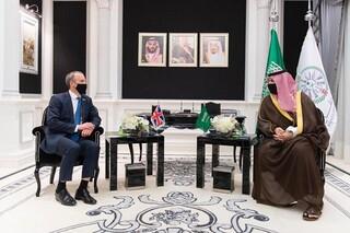 دیدار دومینیک راب با معاون وزیر دفاع عربستان