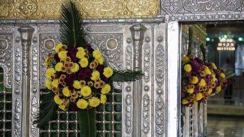 گل آرایی حضرت معصومه