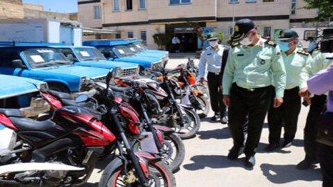 کشف ۱۵ دستگاه موتورسیکلت سرقتی در همدان