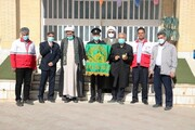 هلال احمر استان یزد به پرچم حرم رضوی متبرک شد