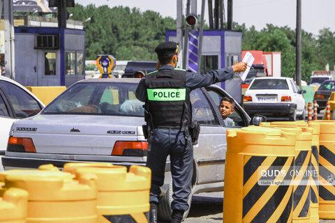 تردد خودرو های غیر بومی در پلیس راه مشهد